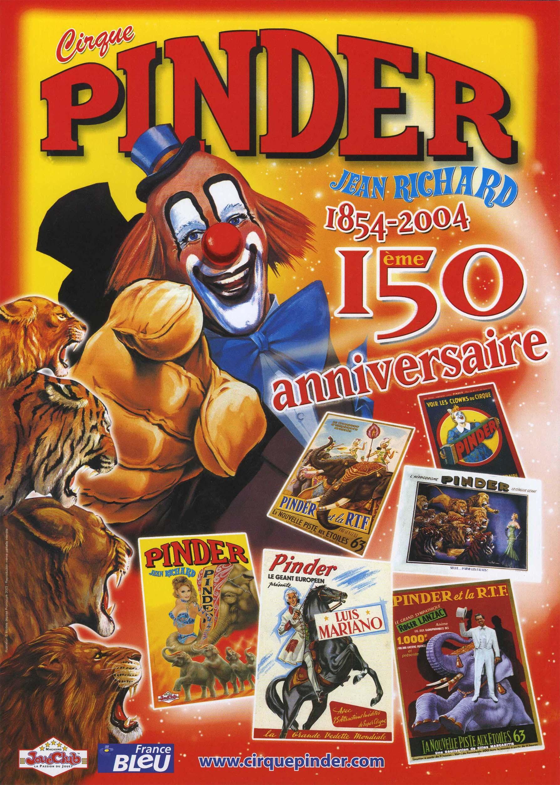 anniversaire cirque pinder